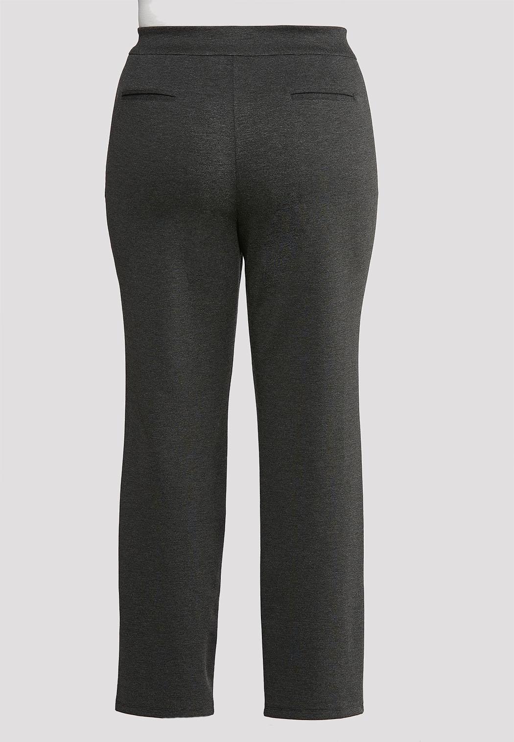 Plus Size Slim Leg Ponte Pants (Item #43918592)