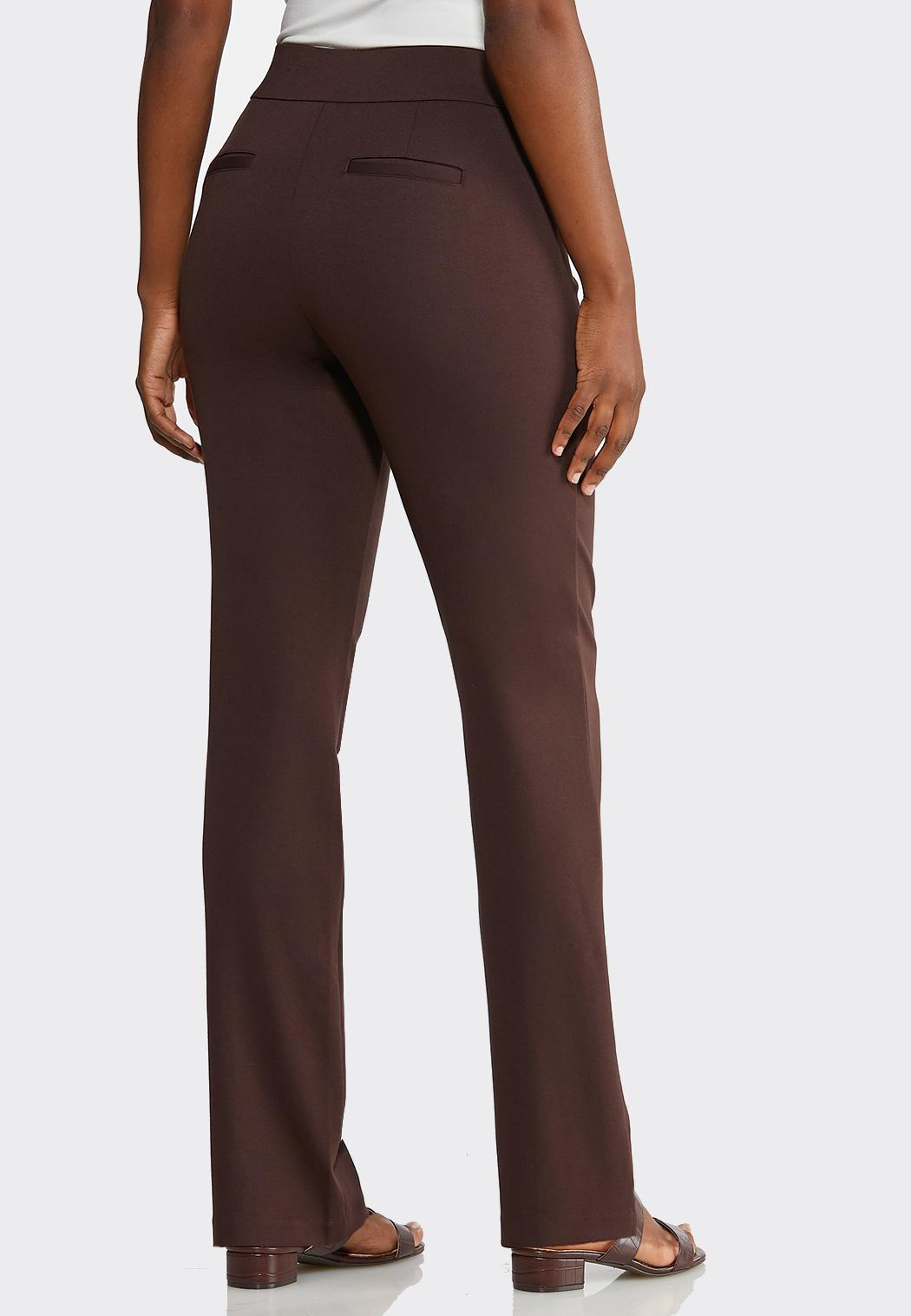 Petite Pintuck Straight Leg Ponte Pants (Item #43918763)