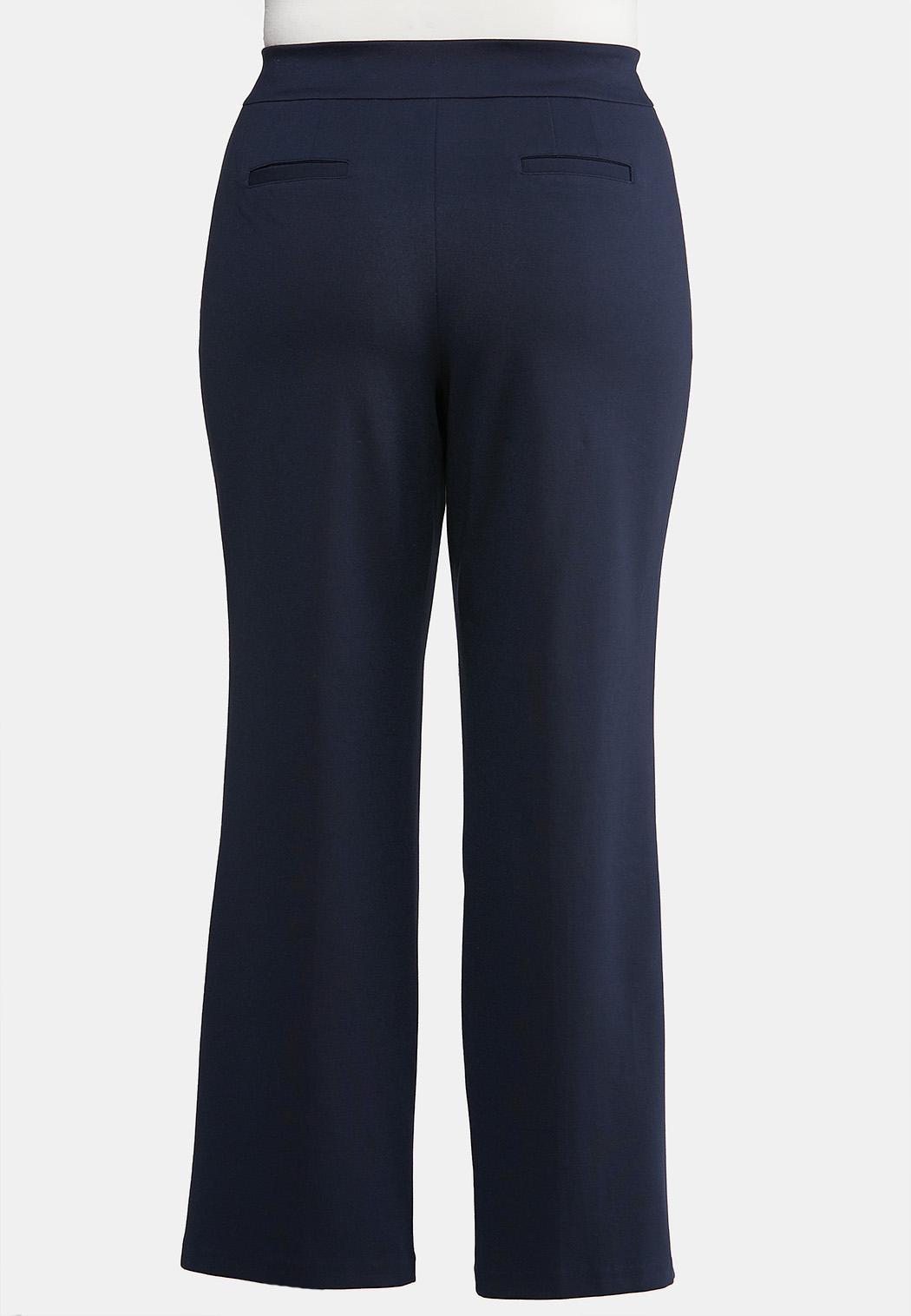 Plus Size Straight Leg Ponte Pants (Item #43919033)