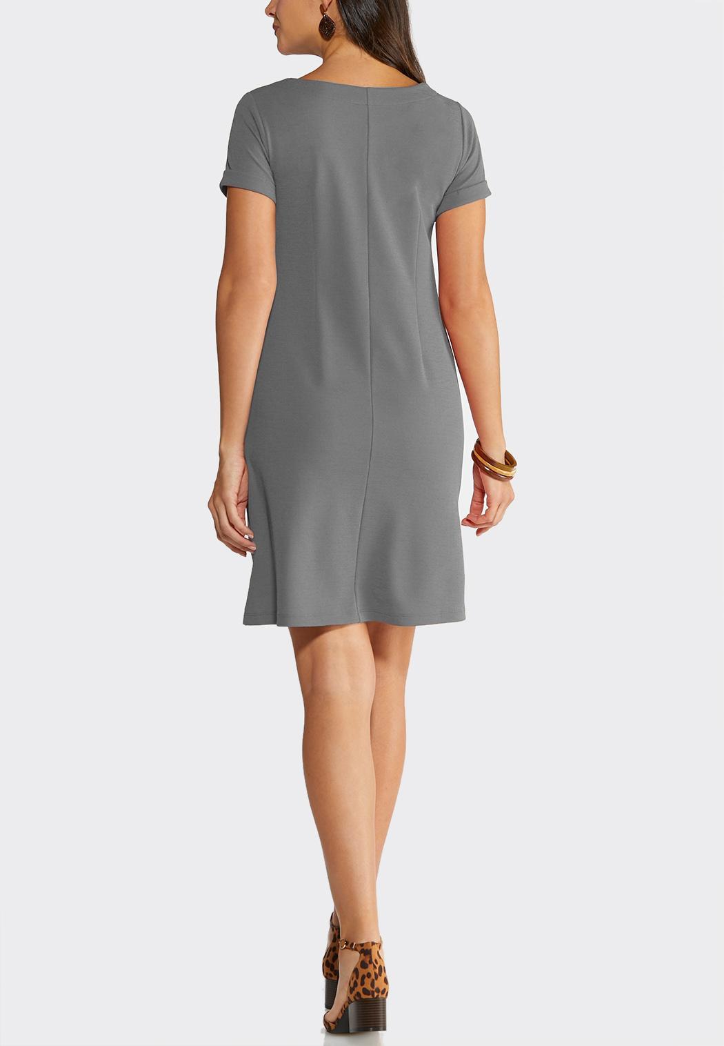 Plus Size A-Line Button Dress (Item #43919173)