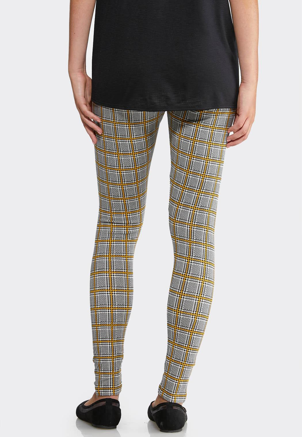 Yellow Plaid Leggings (Item #43919371)