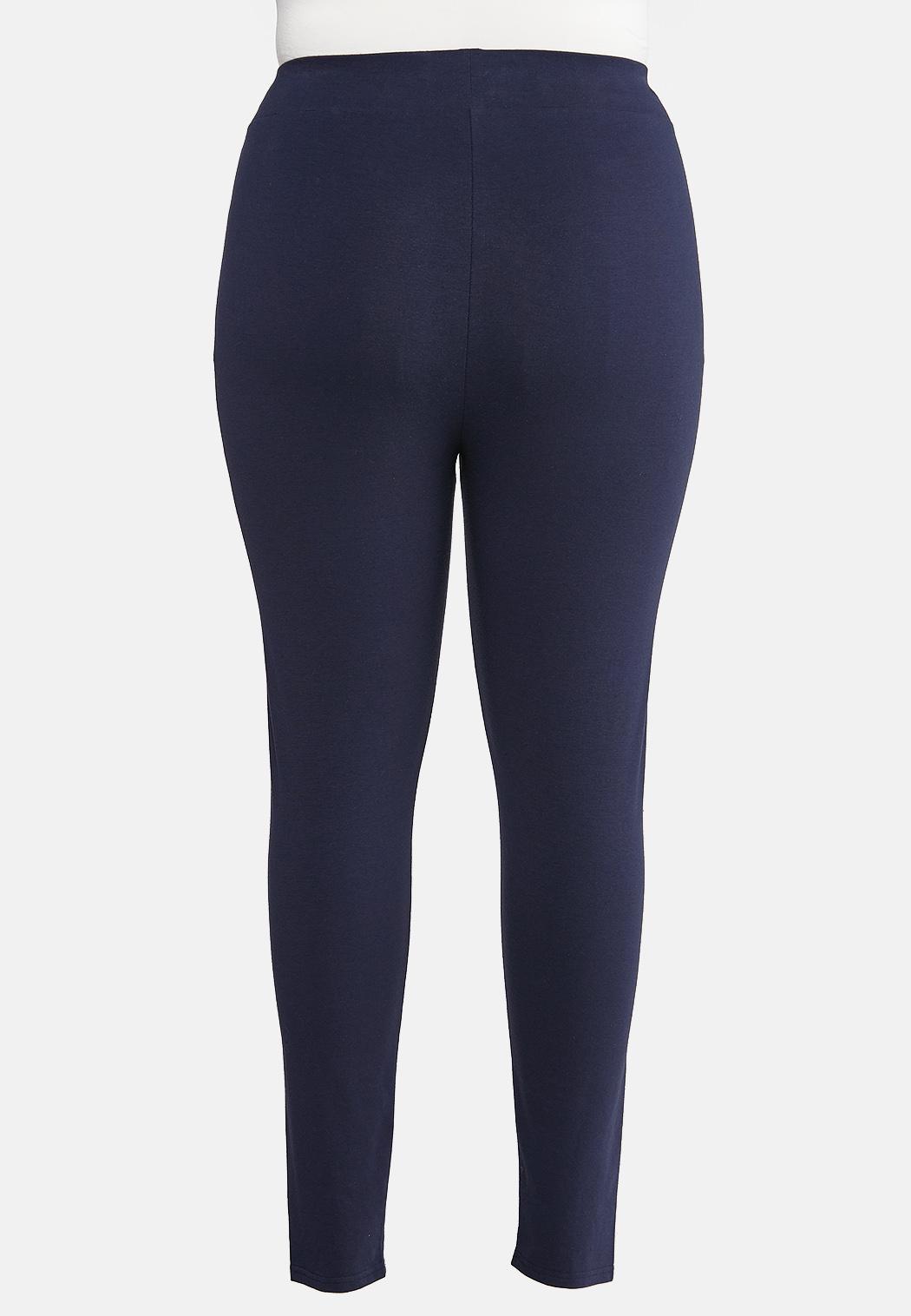Plus Size Solid Leggings (Item #43920310)