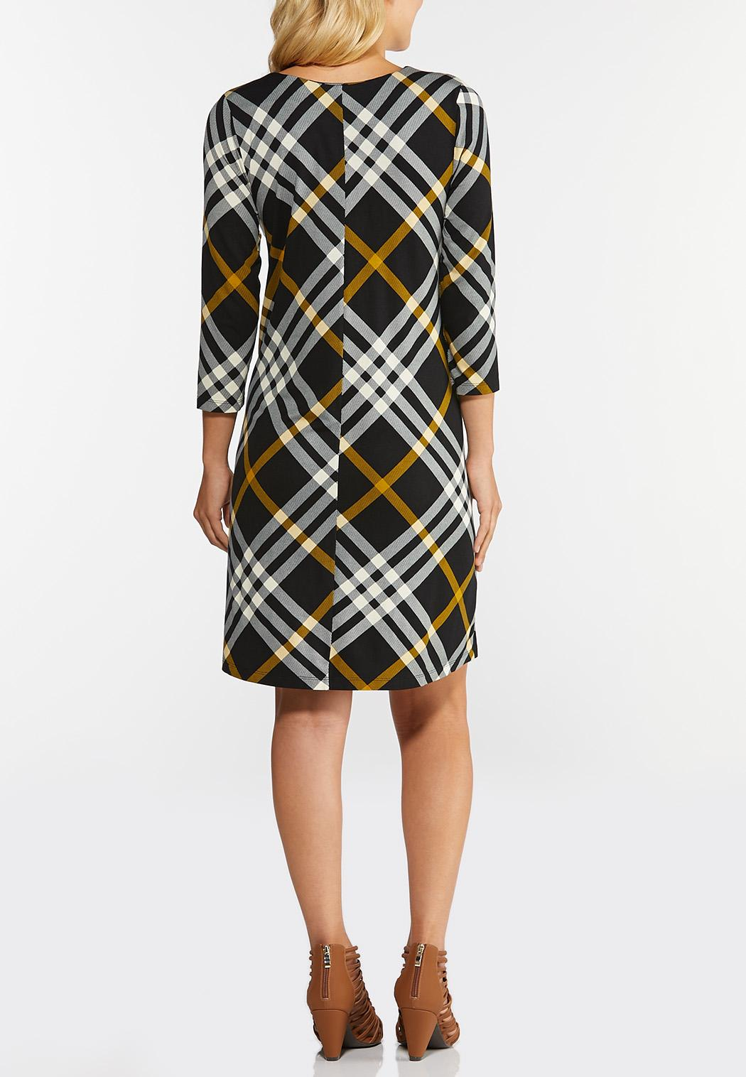 Plus Size Plaid Swing Dress (Item #43921725)