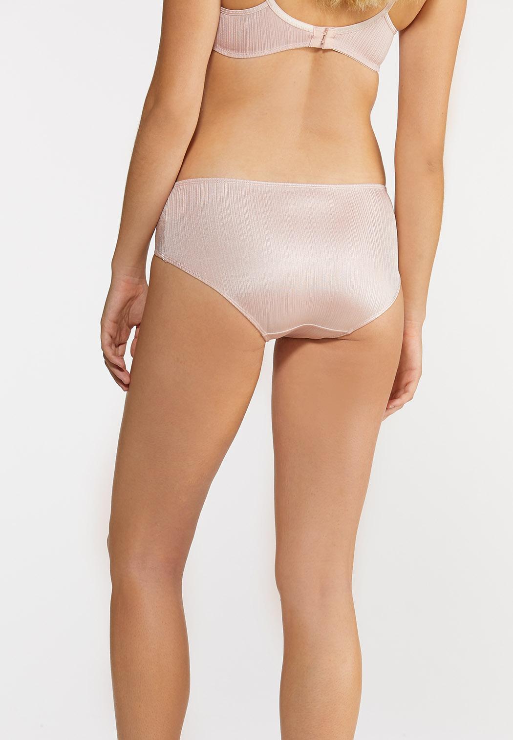 Plus Size Silky Stripe Panty Set (Item #43925663)