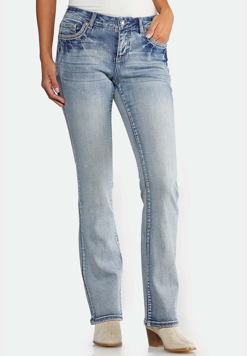 Petite Sparkling Embroidered Jeans (Item #43926297)