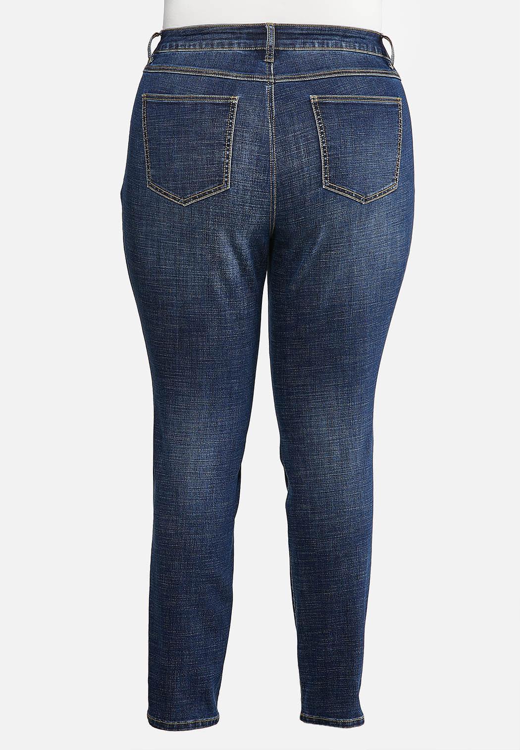 Plus Size Crosshatch Jeans (Item #43926487)