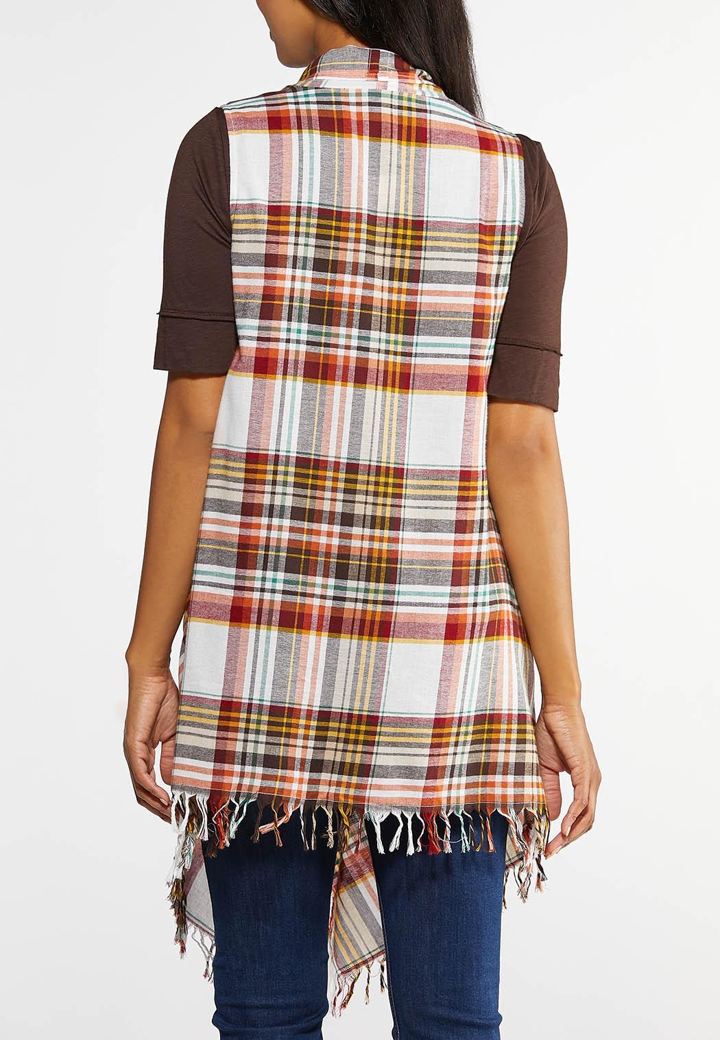 Plaid Fringe Vest (Item #43927437)