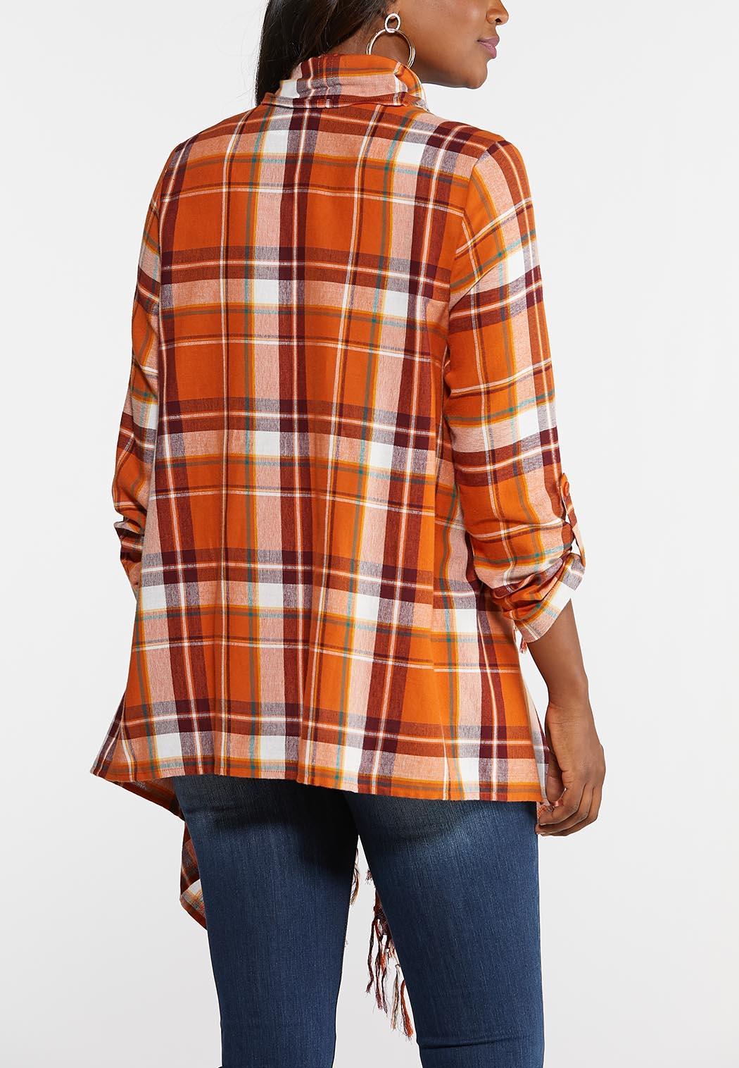 Plaid Fringe Jacket (Item #43927473)