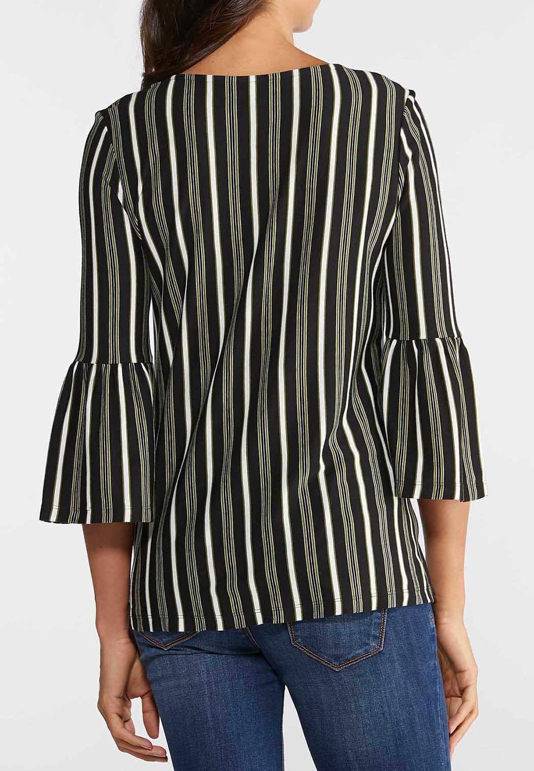Plus Size Striped Bell Top (Item #43928443)