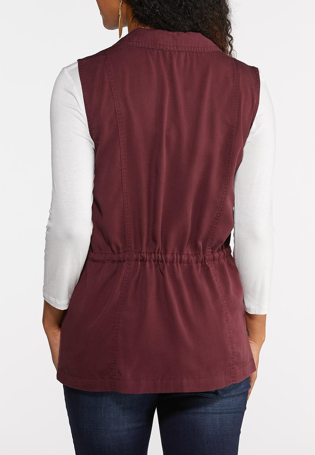 Plus Size Tencel Utility Vest (Item #43928832)