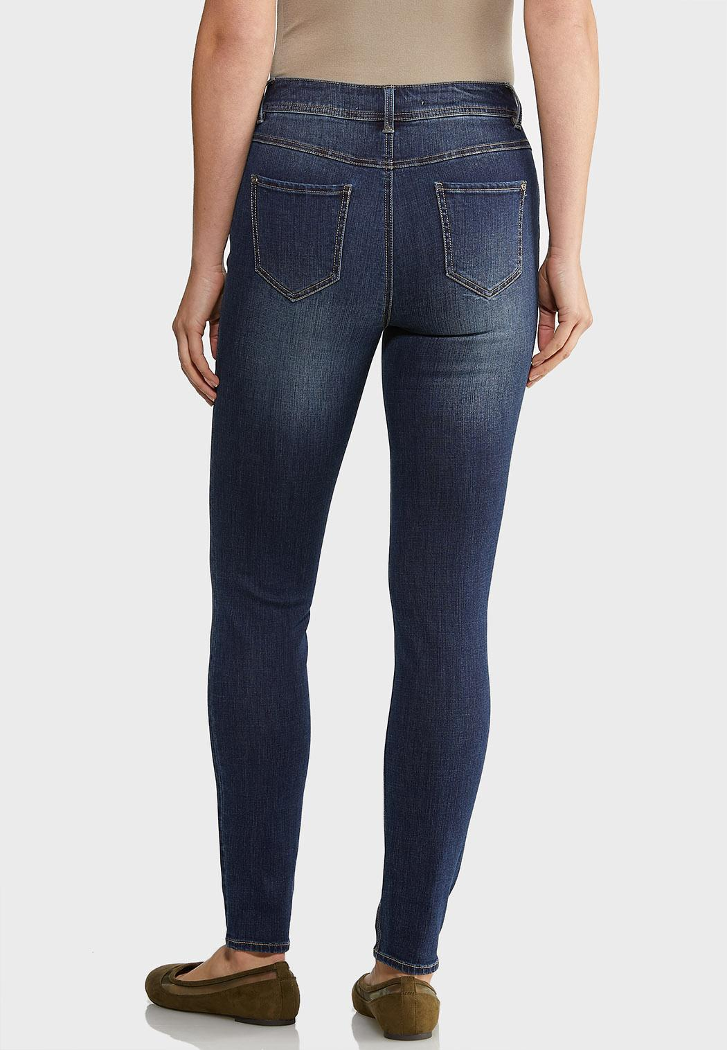 Dark Wash Skinny Jeans (Item #43929070)