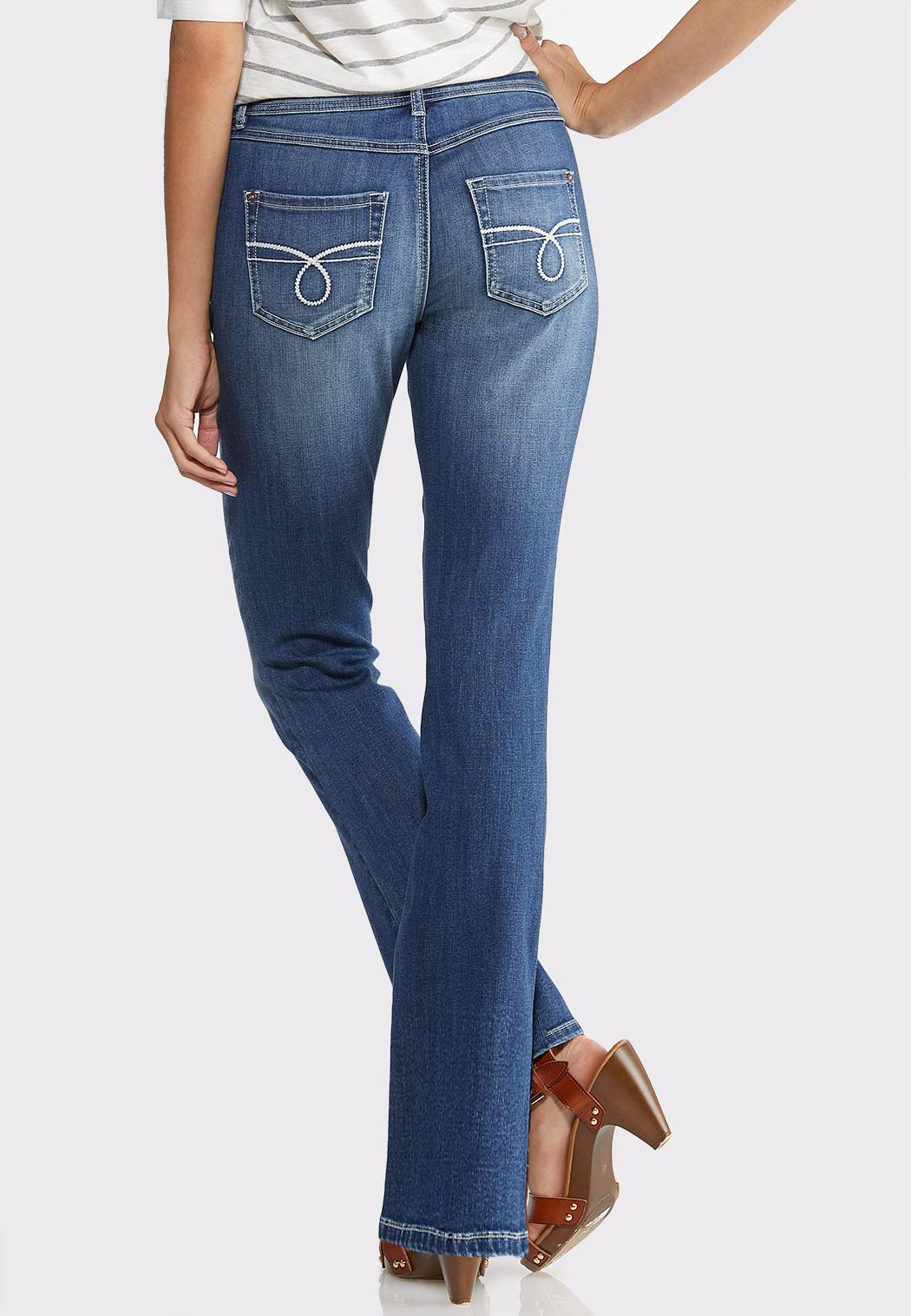 Petite Dark Wash Bootcut Jeans (Item #43929316)