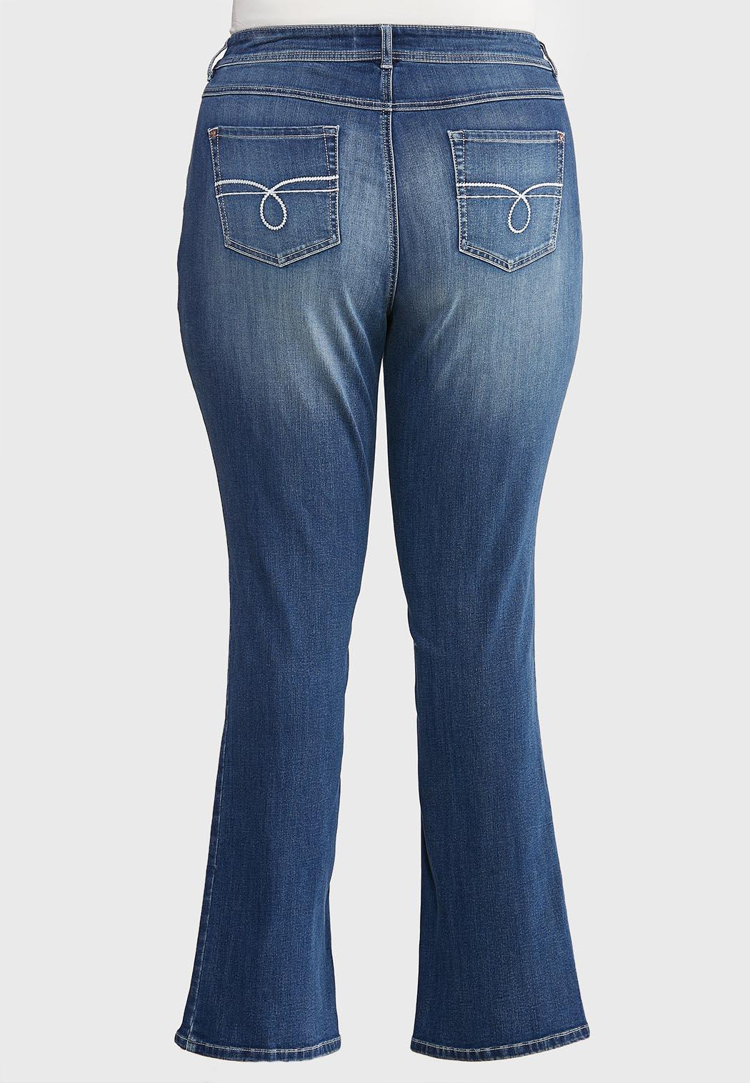 Plus Size Dark Wash Bootcut Jeans (Item #43929406)