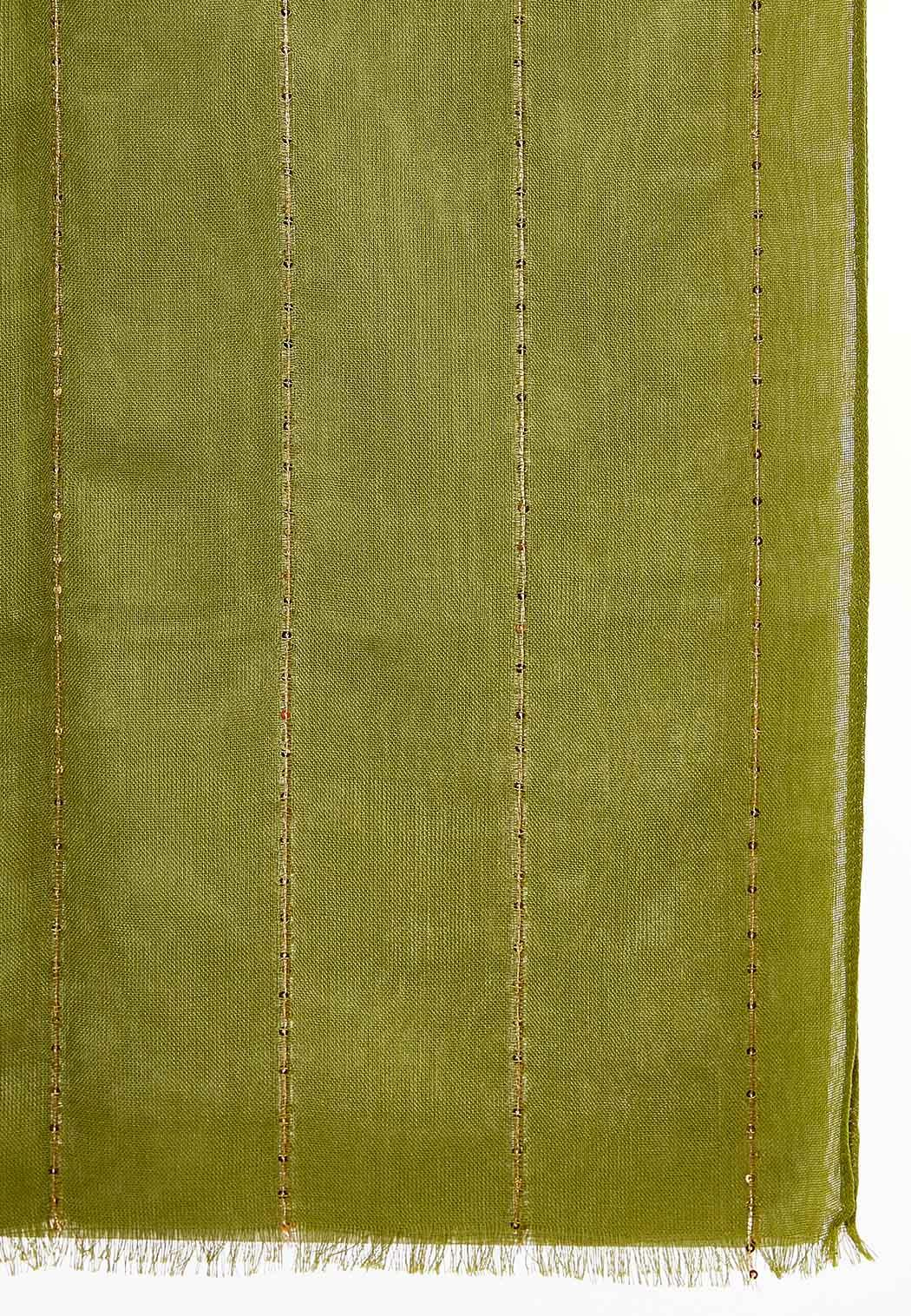 Sequin Thread Oblong Scarf (Item #43930499)