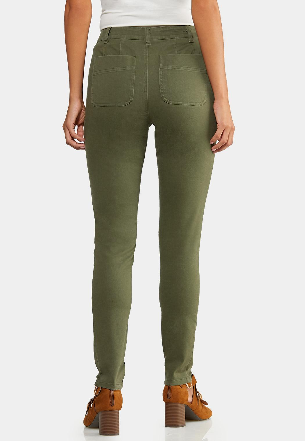 Petite Olive Utility Jeans (Item #43933168)