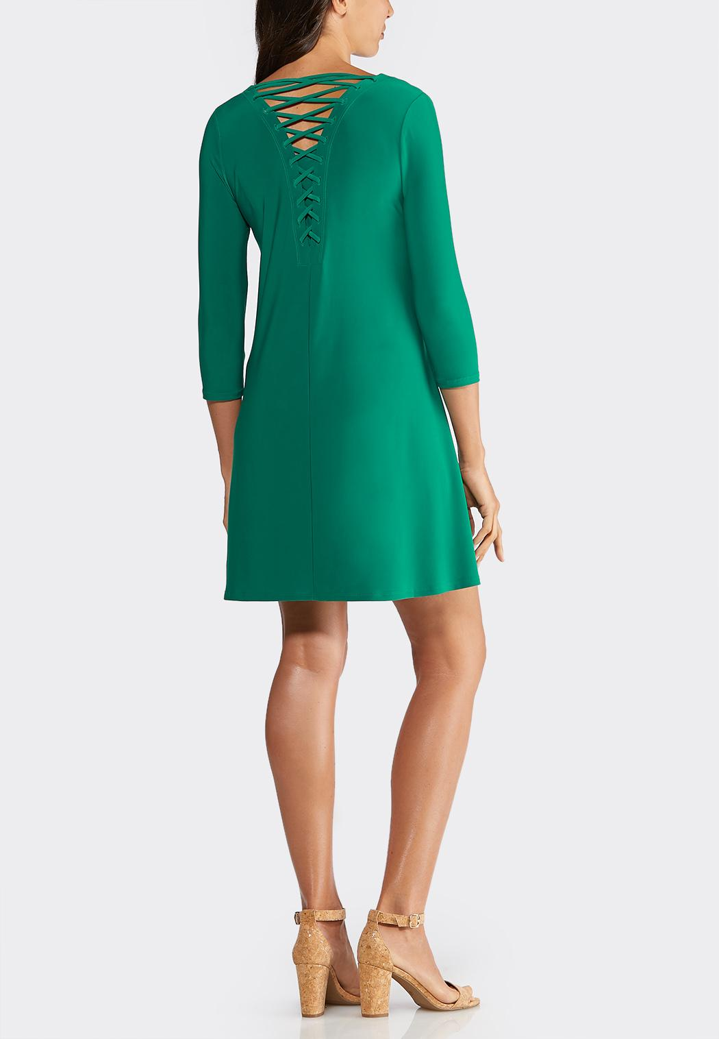 Plus Size Strappy Back Swing Dress (Item #43933169)