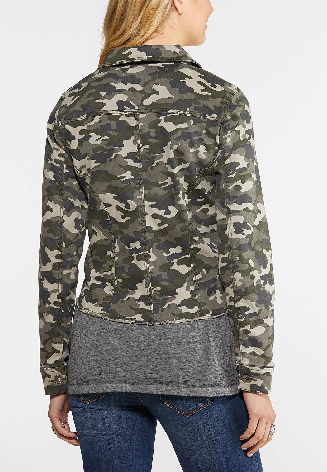 Raw Hem Camo Jacket (Item #43934926)