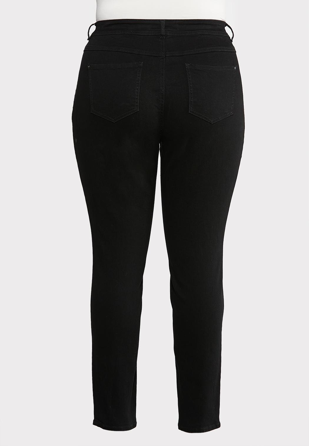 Plus Size Washed Black Jeggings (Item #43935358)