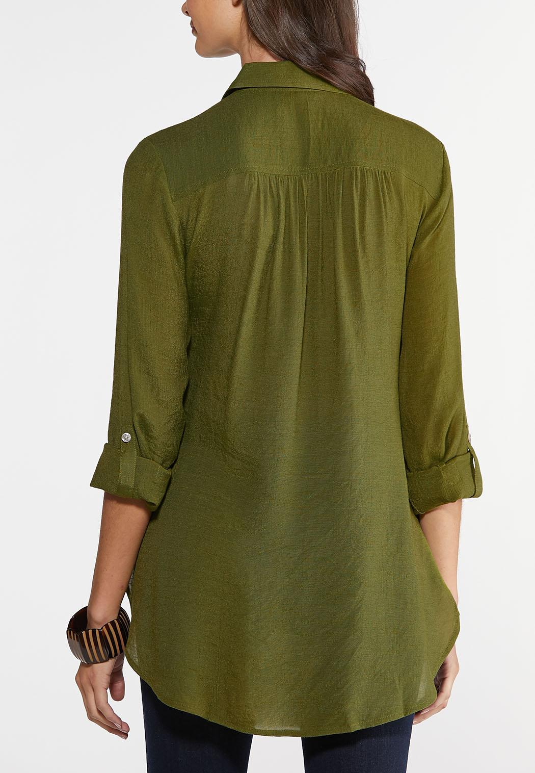 Textured High-Low Tunic (Item #43936198)