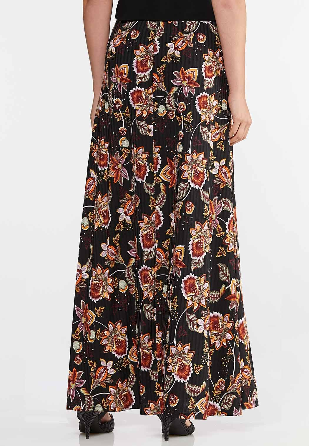 Ribbed Floral Skirt (Item #43940531)