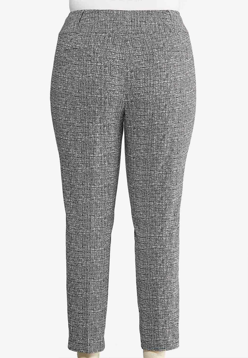 Plus Size Textured Slim Pants (Item #43940643)