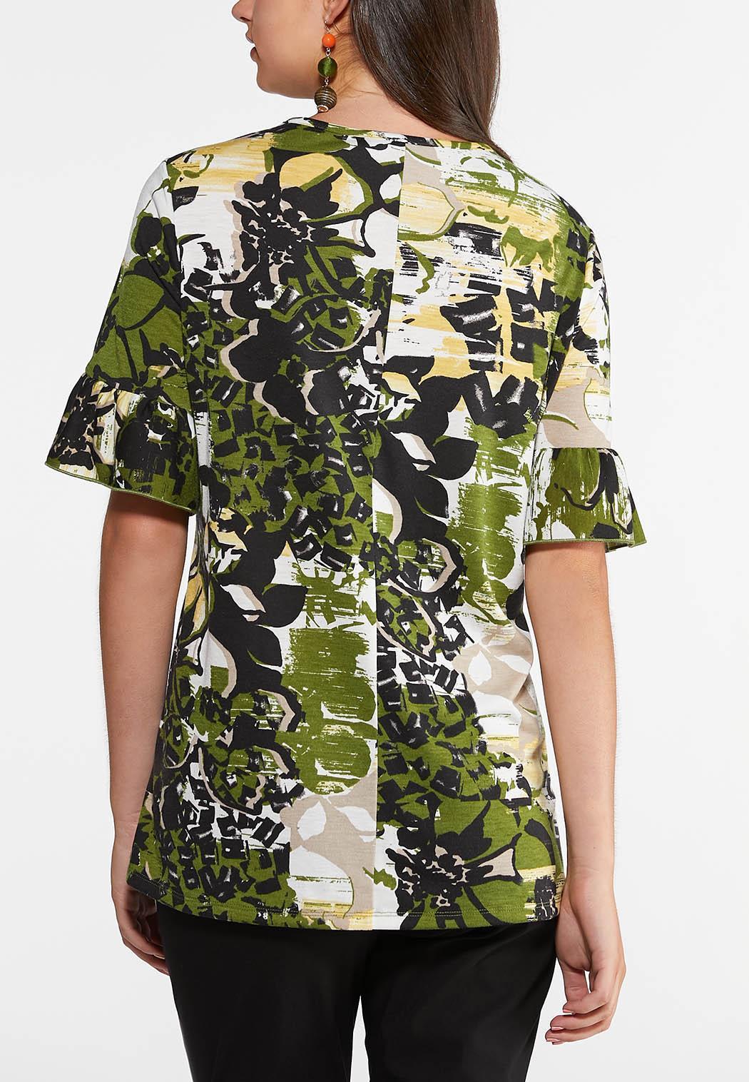 Embellished Green Floral Top (Item #43941690)