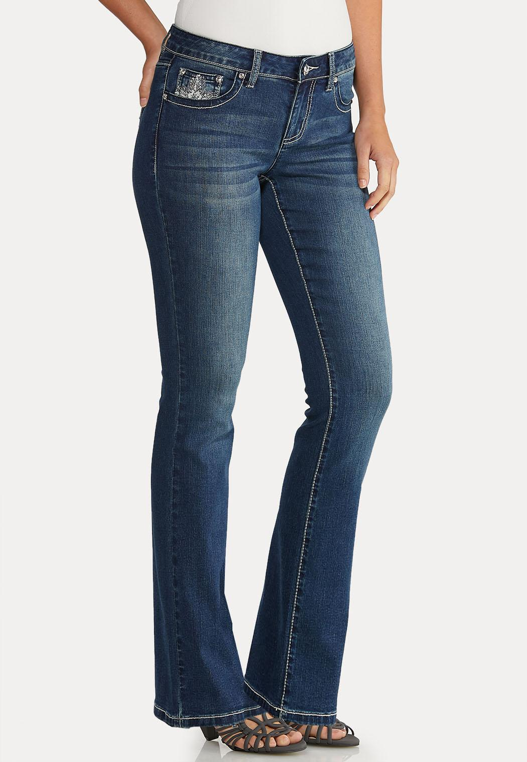Bootcut Bling Feather Jeans (Item #43942916)