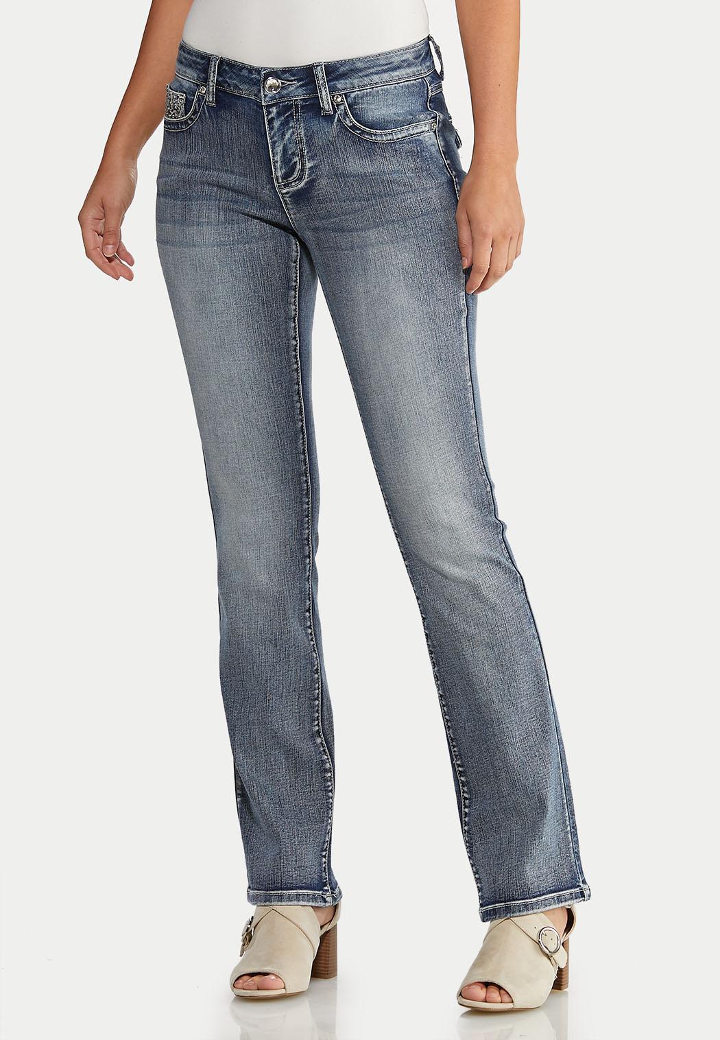 Floral Studded Jeans (Item #43943021)