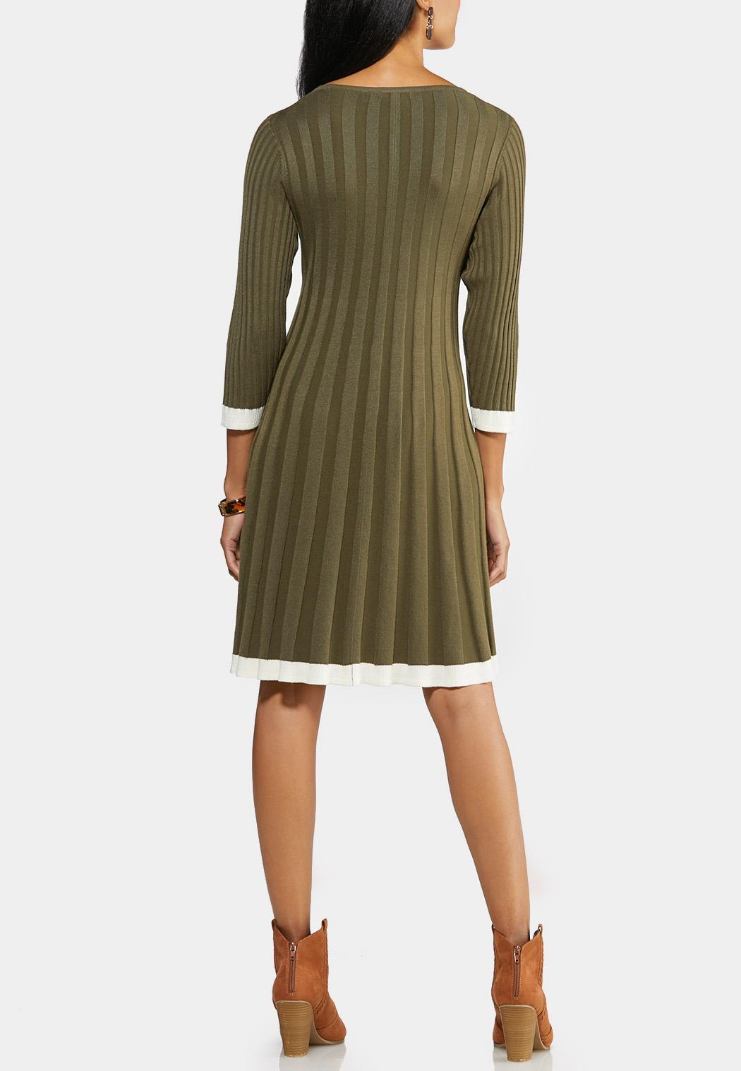 Plus Size Ribbed Knit Swing Dress (Item #43947635)