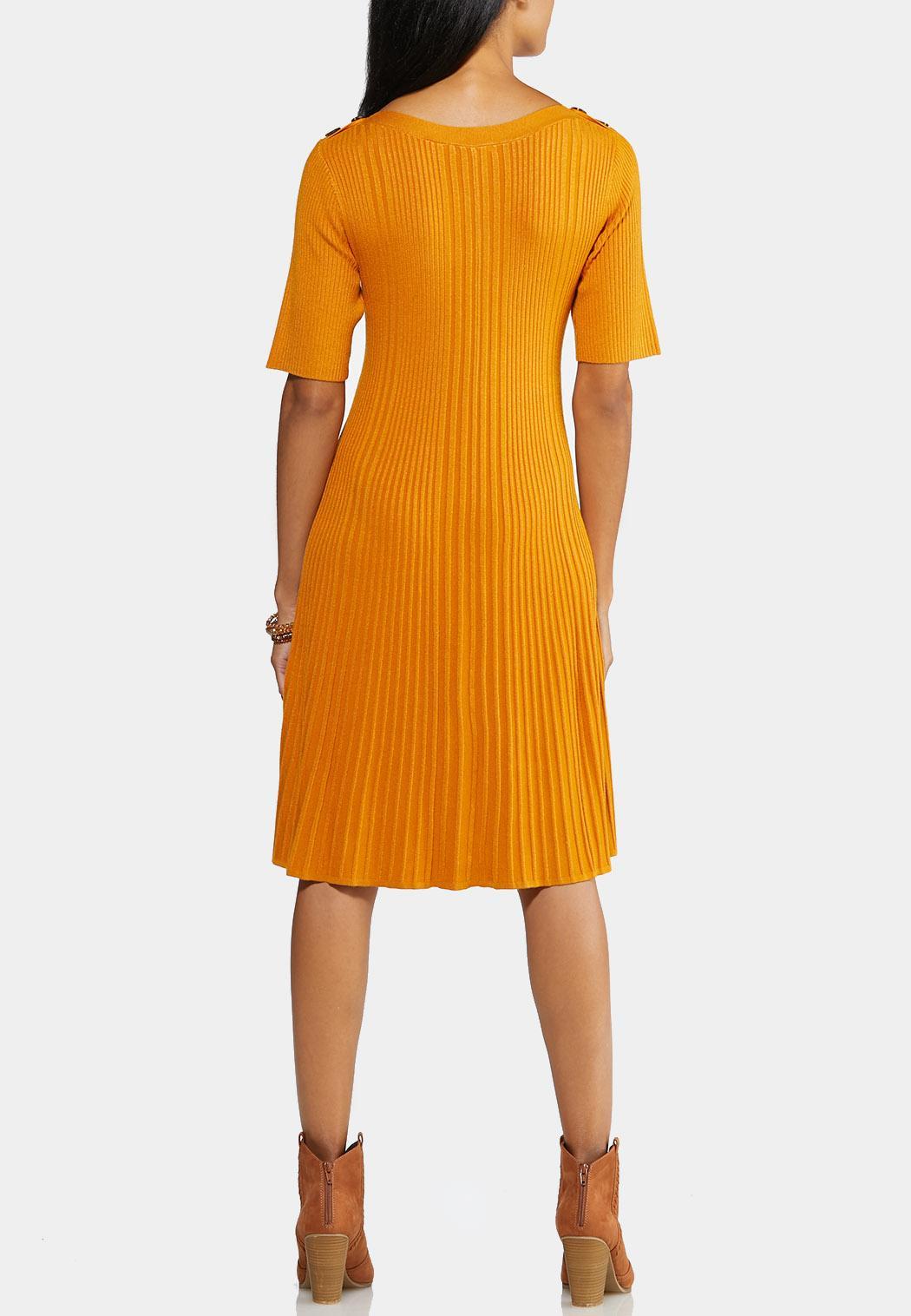 Plus Size Ribbed Sweater Dress (Item #43947653)