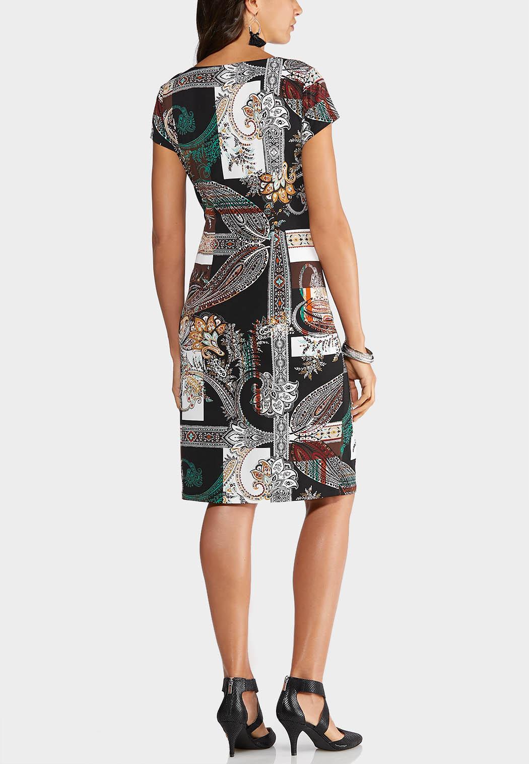 Plus Size Paisley Midi Dress (Item #43947806)
