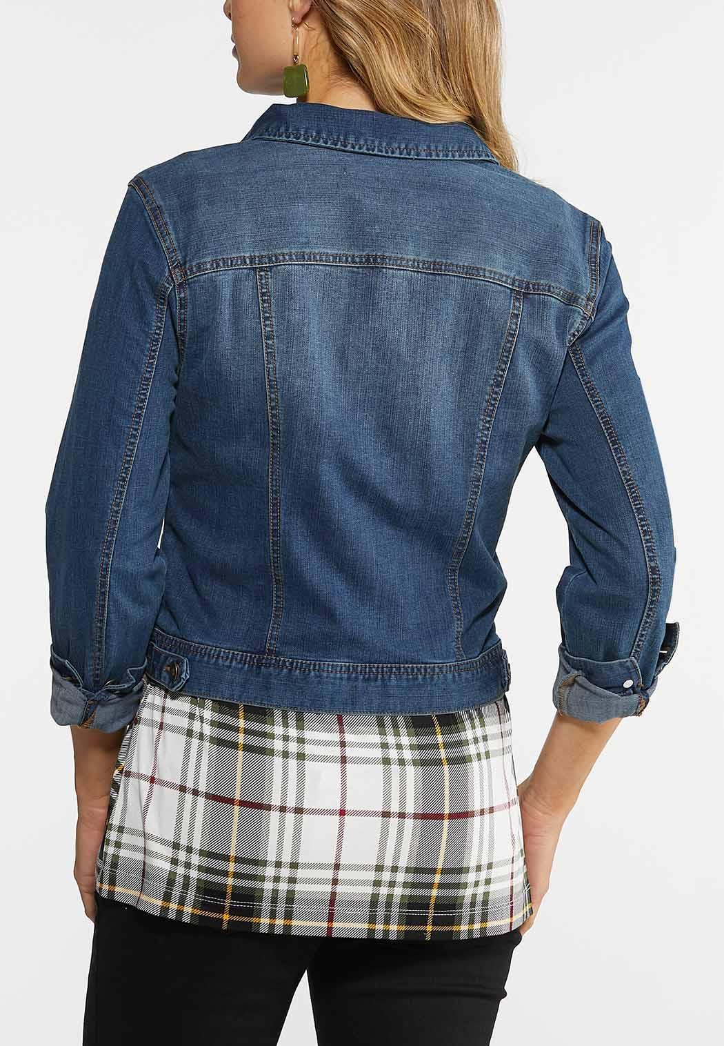 Plus Size Essential Denim Jacket (Item #43950091)
