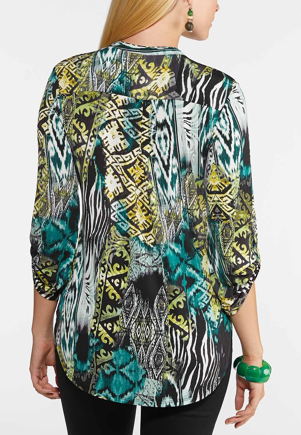 Plus Size In The Jungle Top (Item #43950705)