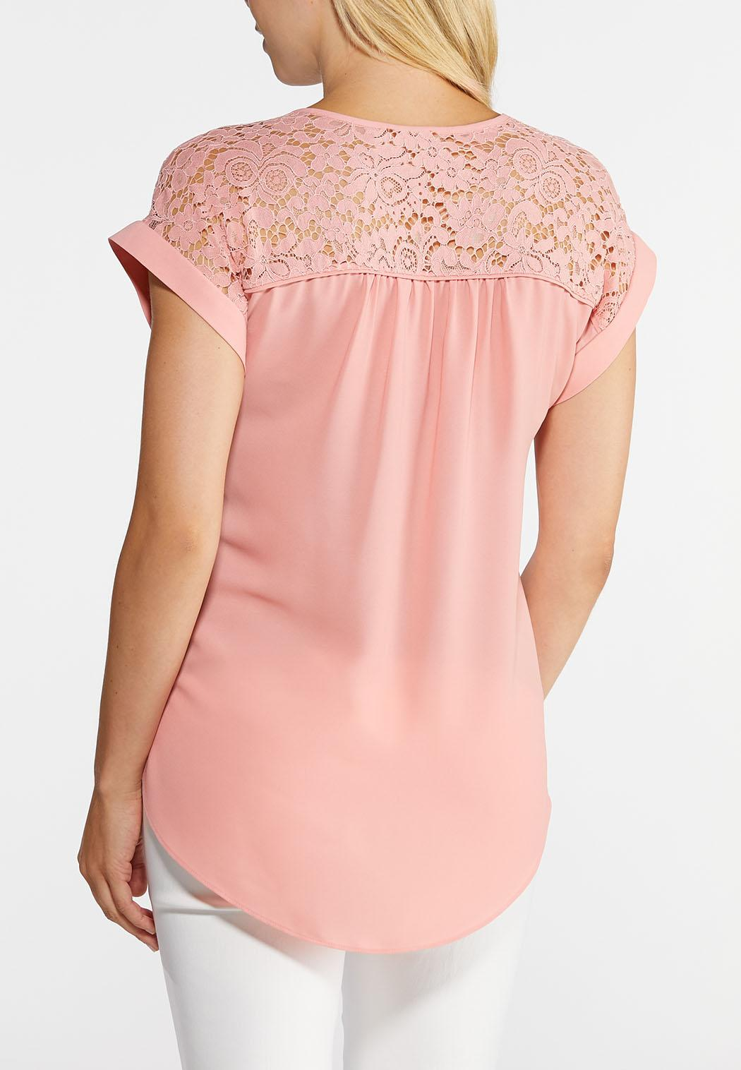 Piped Lace Top (Item #43955616)