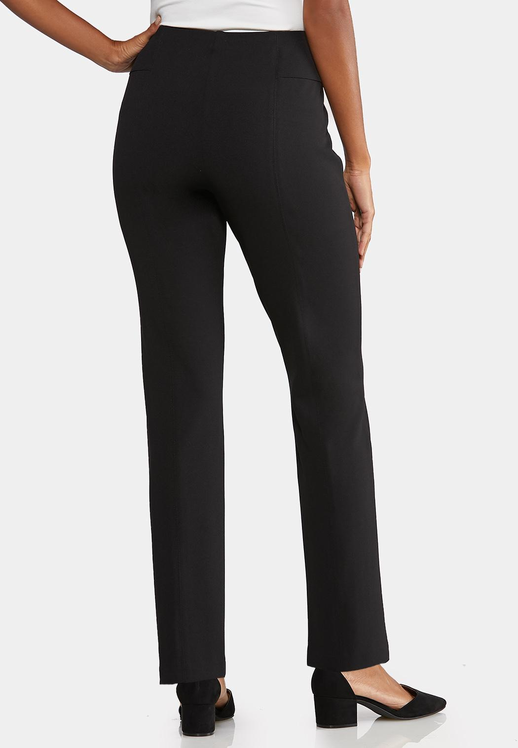 Petite Twill Straight Leg Pants (Item #43956203)