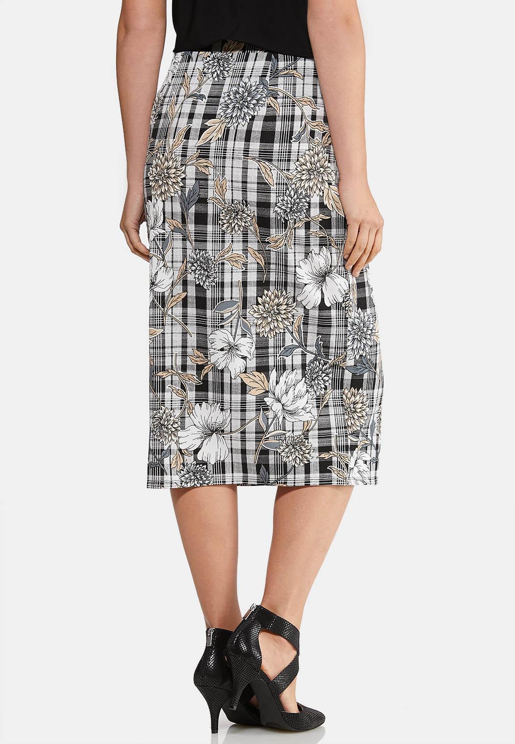 Floral Plaid Puff Skirt (Item #43956705)