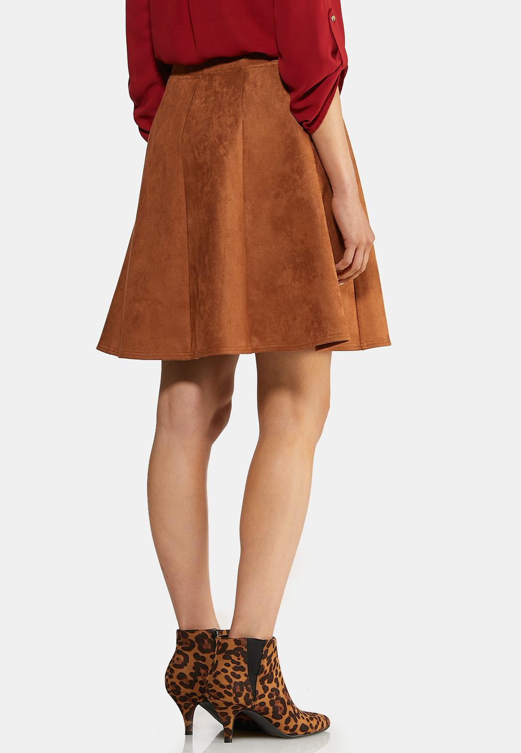 Faux Suede Mini Skirt (Item #43957481)