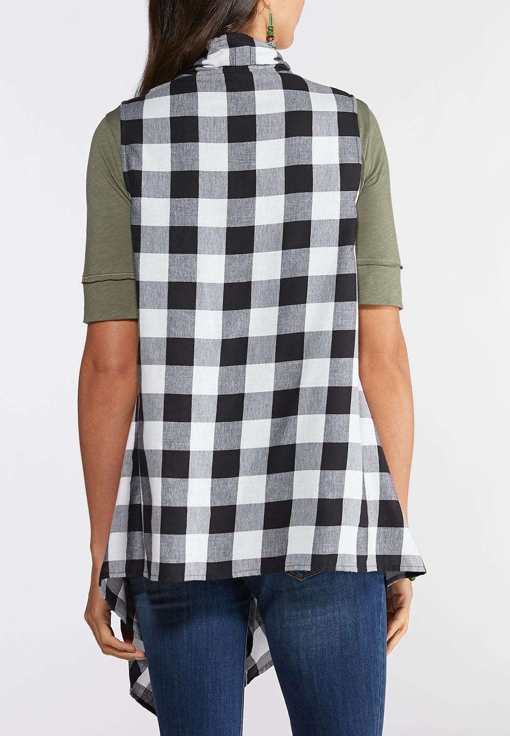 Plus Size Buffalo Plaid Vest (Item #43957999)