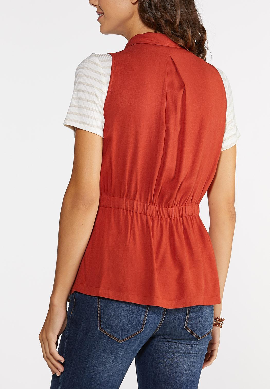 Plus Size Crochet Trim Vest (Item #43958200)