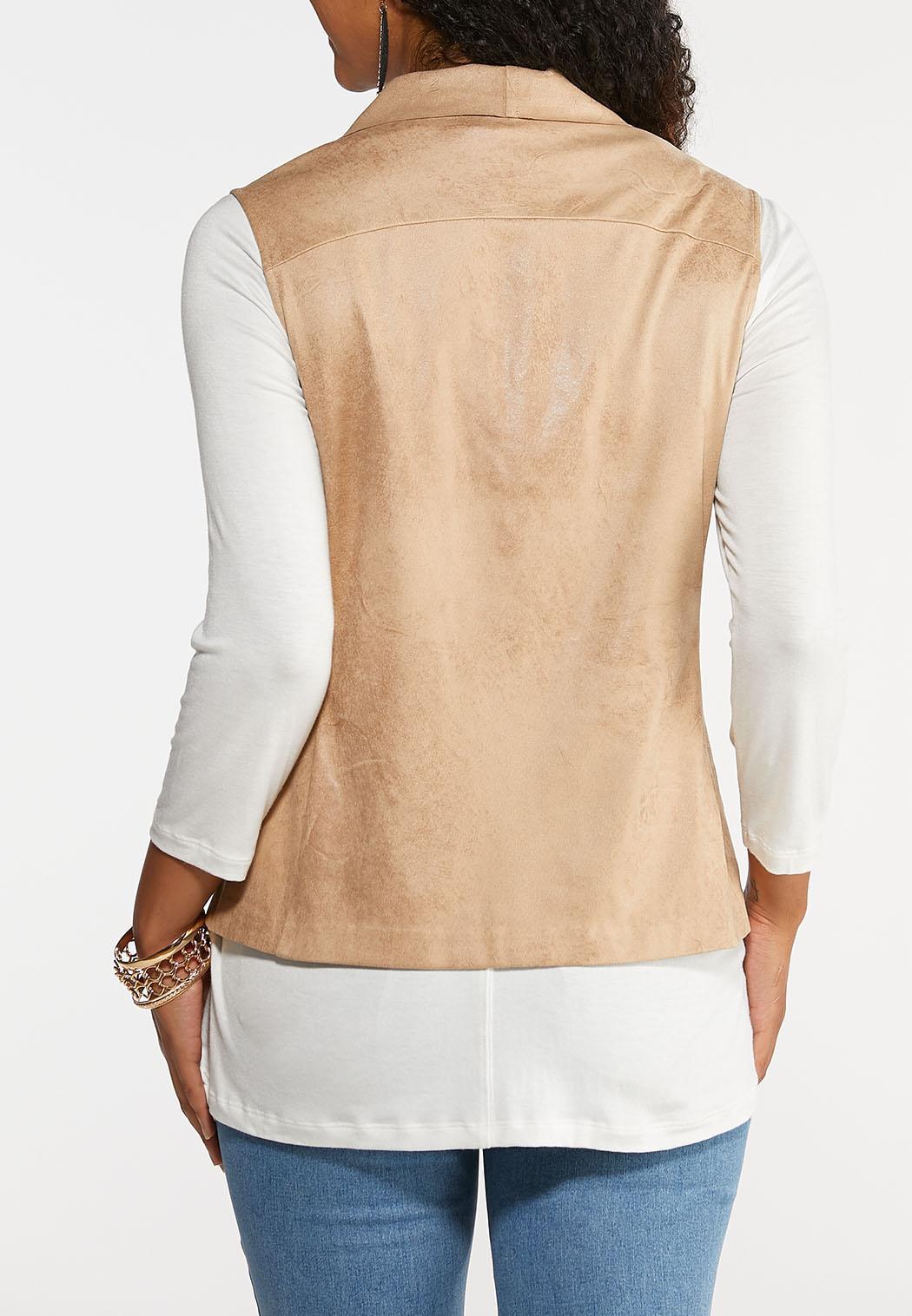 Drape Suede Vest (Item #43960185)