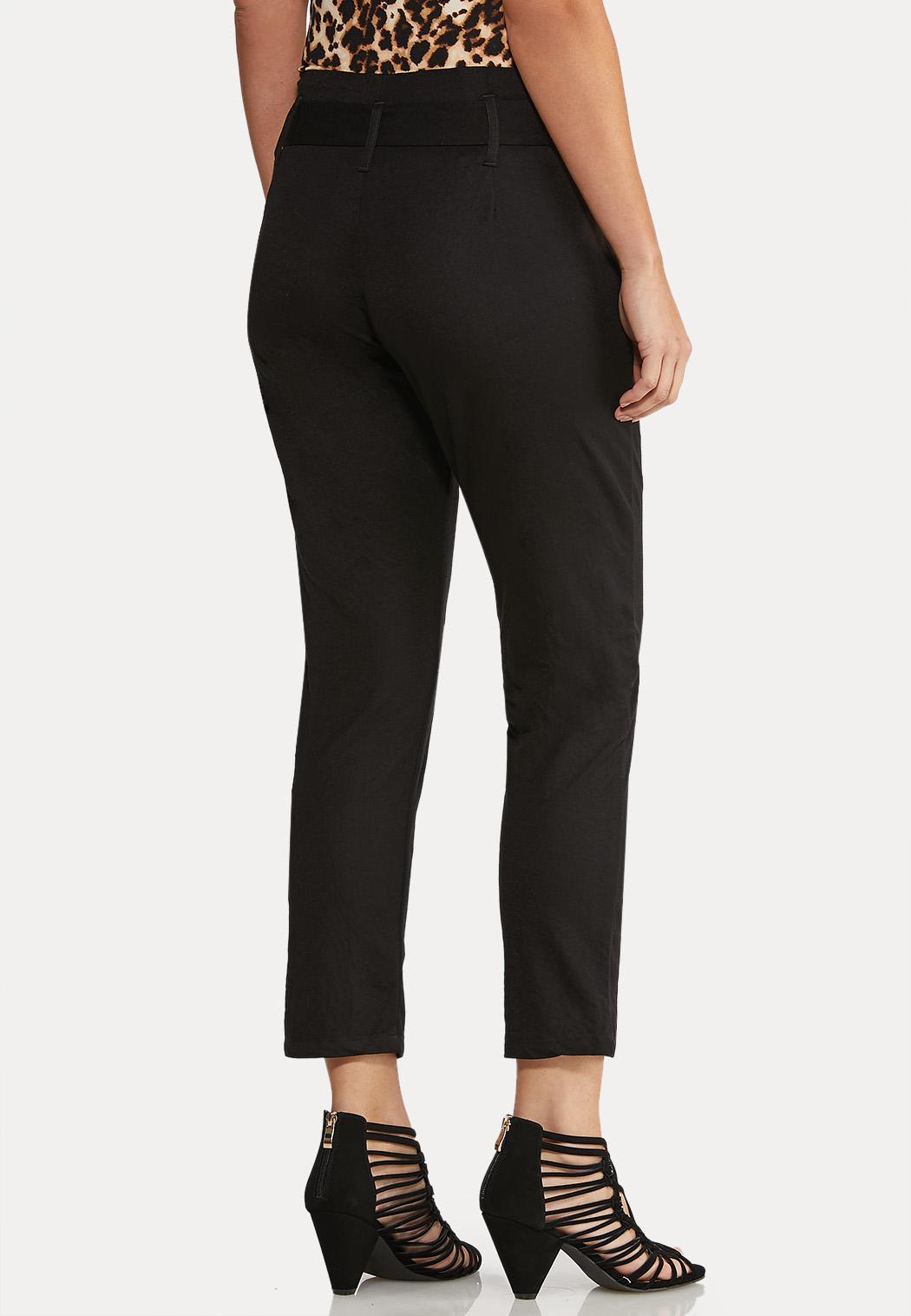 Tie Waist Paperbag Waist Pants (Item #43960434)