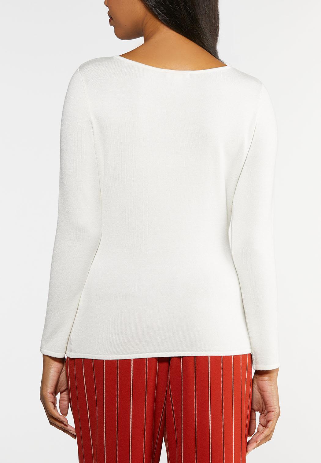 Plus Size Solid Crew Neck Sweater (Item #43961047)