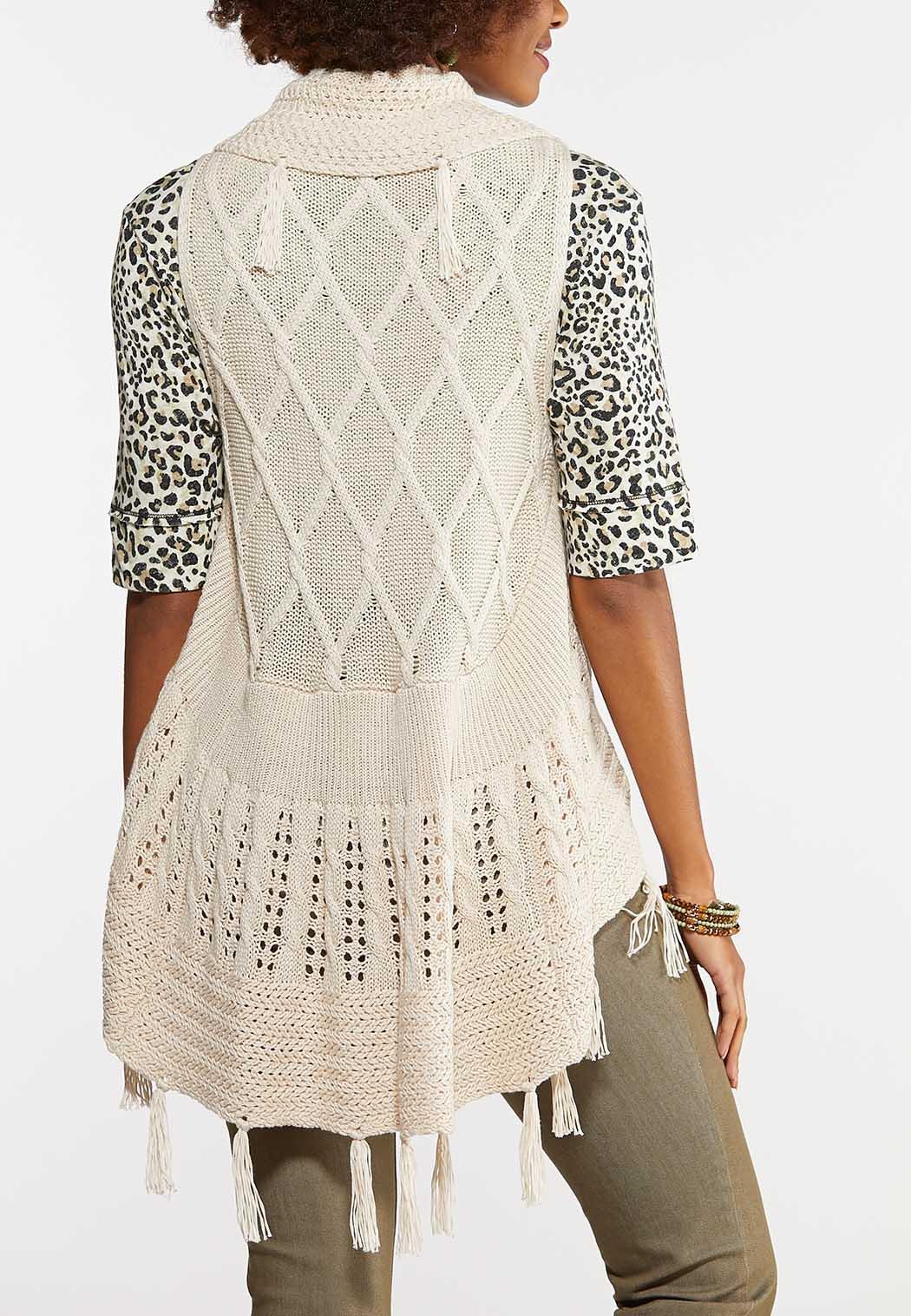 Fringed Crochet Vest (Item #43961091)