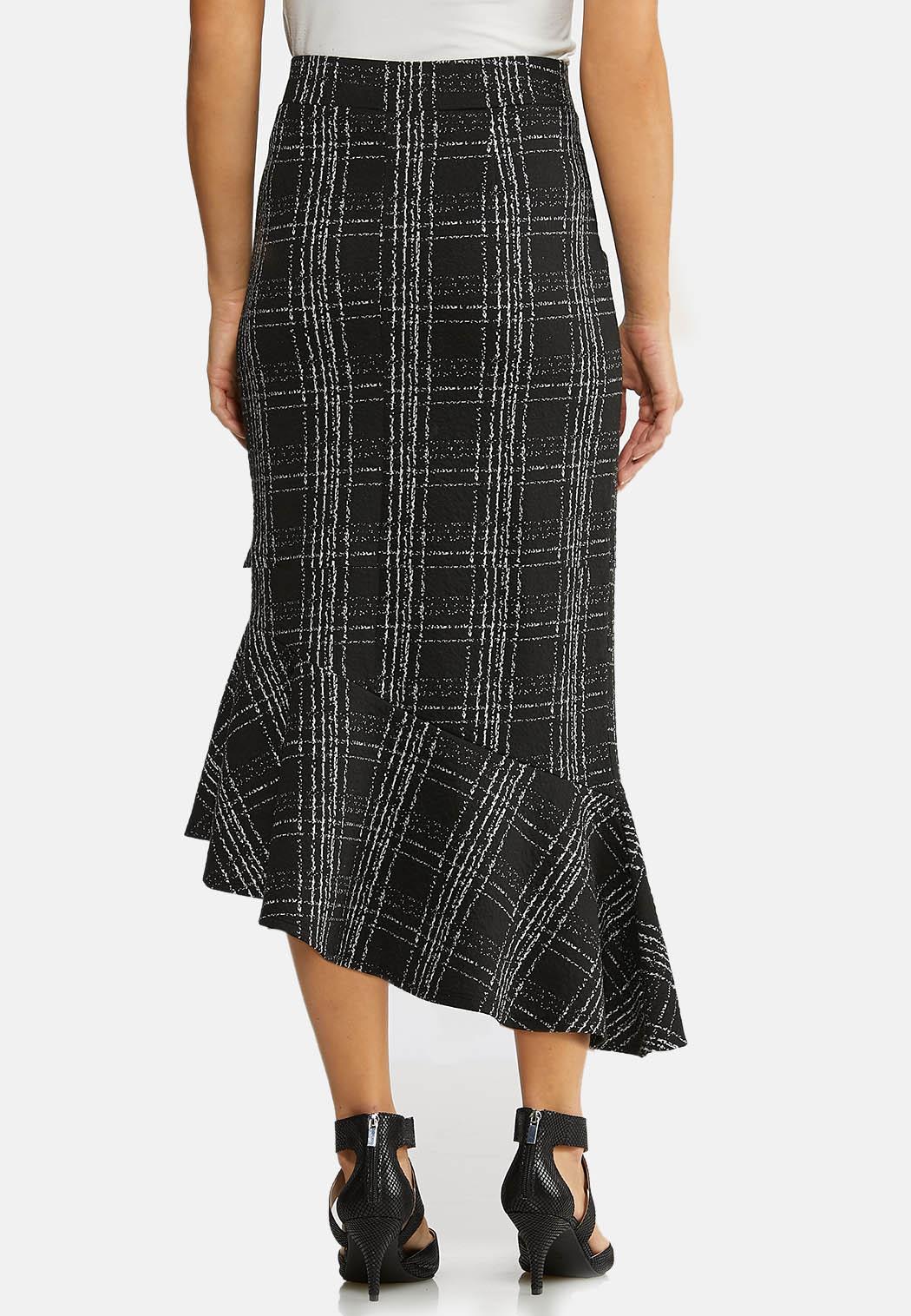 Plus Size Menswear Flounced Skirt (Item #43963043)