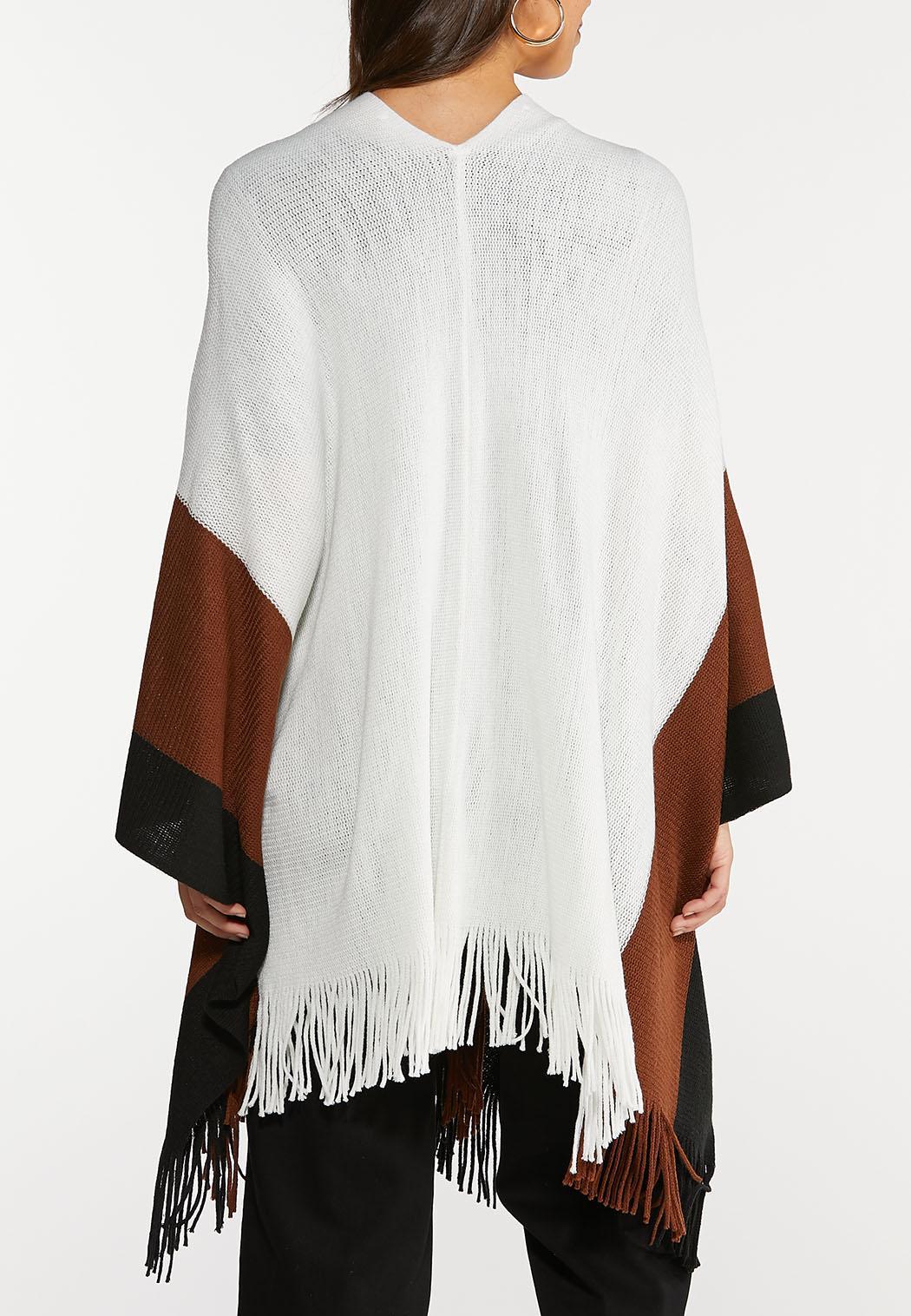 Colorblock Sweater Wrap (Item #43963732)