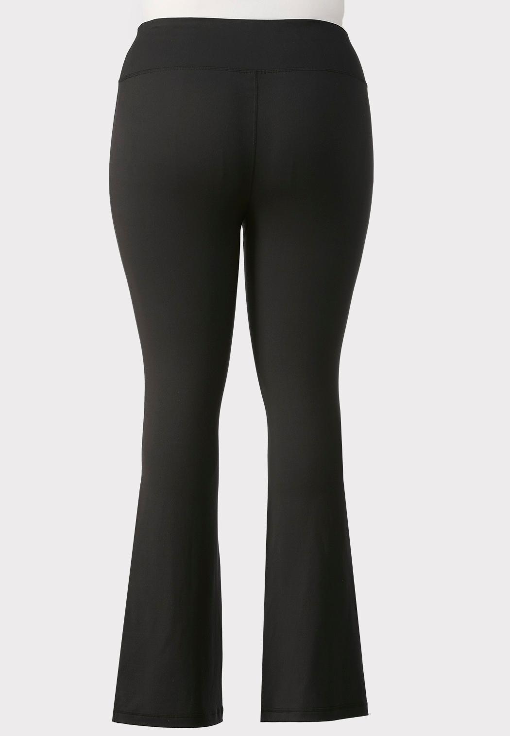Plus Size Flare Leg Yoga Pants (Item #43964743)