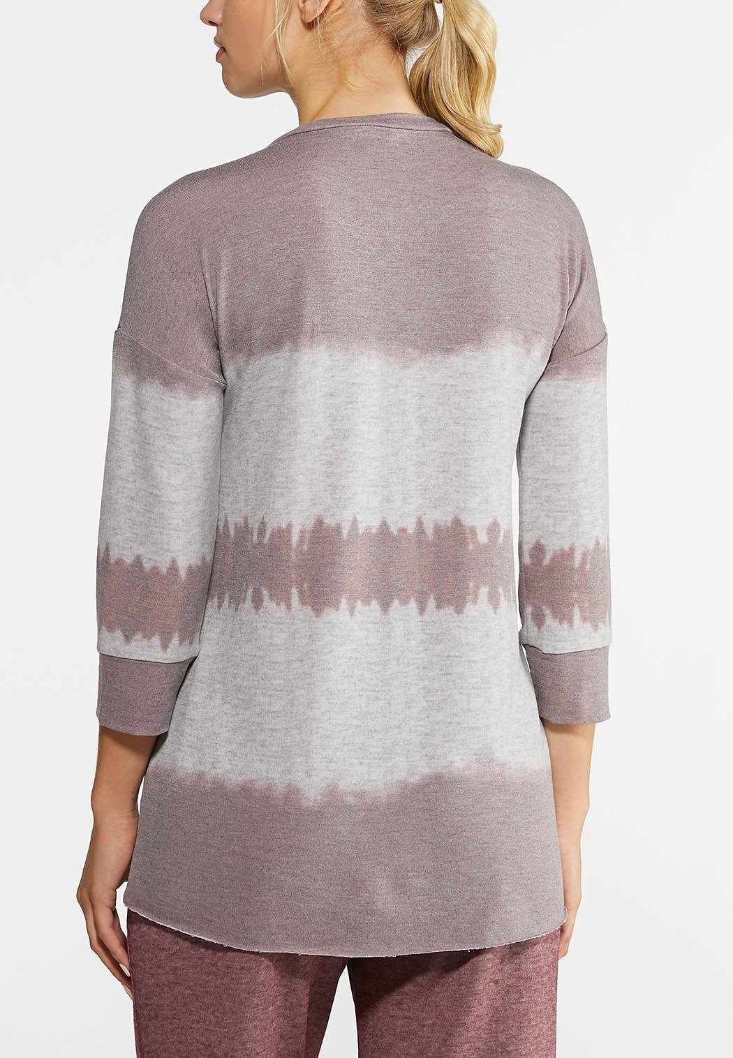 Plus Size Tie Dye Tunic Top (Item #43966216)