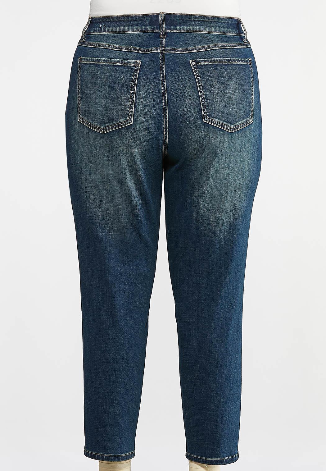 Plus Size Girlfriend Ankle Jeans (Item #43966388)