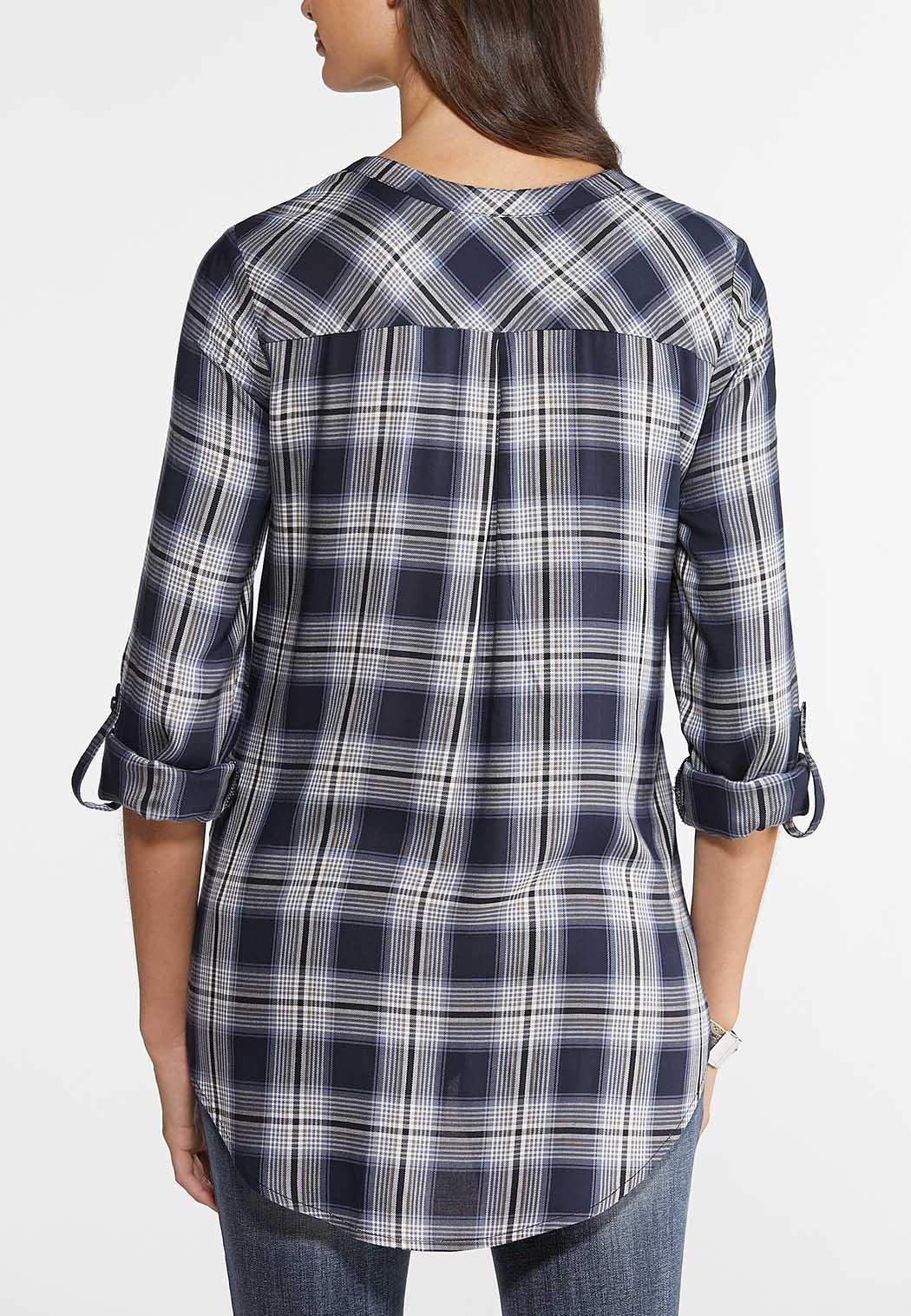 Plaid Zip Front Shirt (Item #43967062)