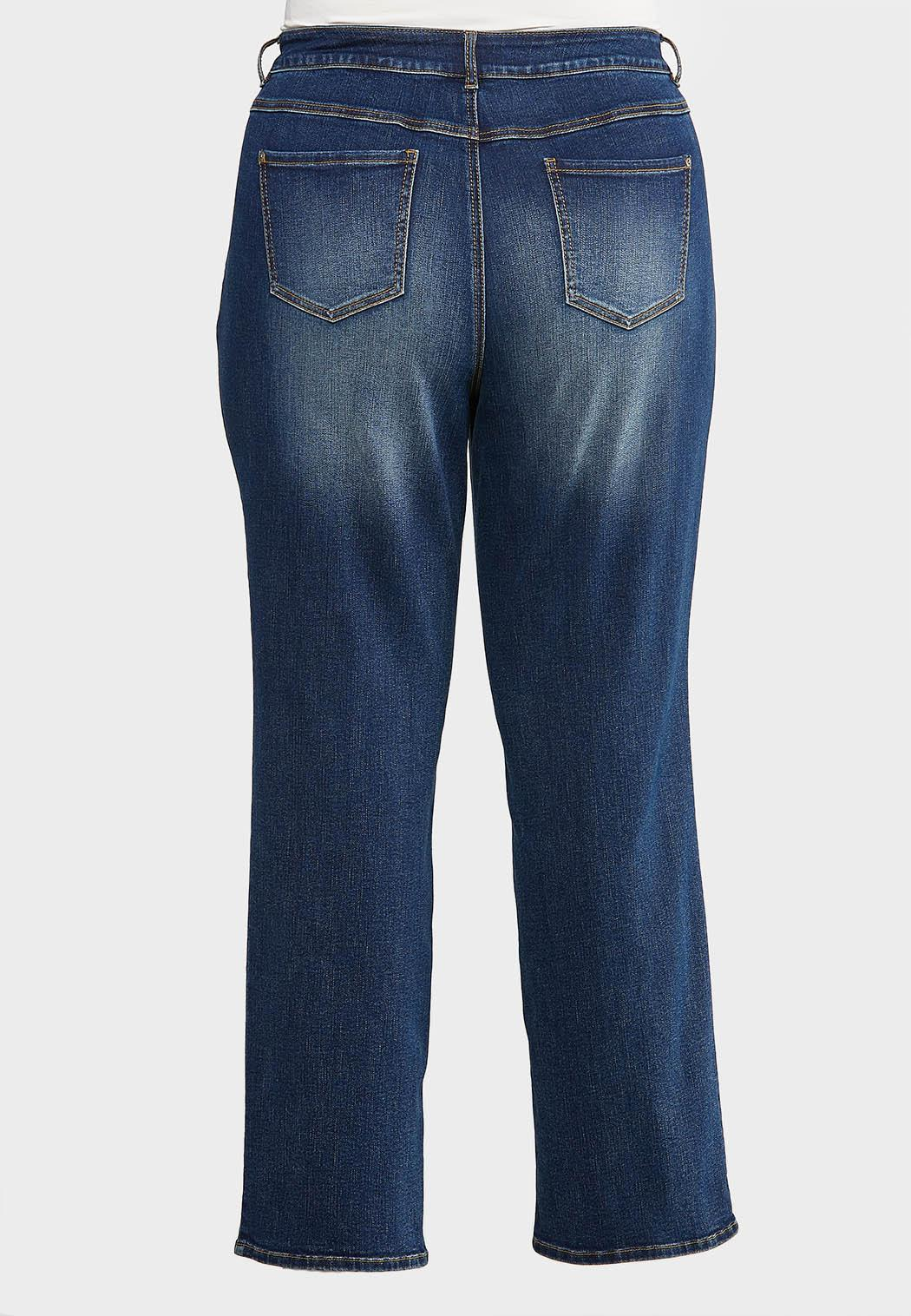 Plus Size Straight Leg Medium Wash Jeans (Item #43969399)